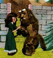 Picture of beauty and the beast puppets